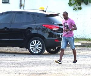 Vinícius Pacheco no treino do Flamengo (Foto: Thiago Benevenutte)