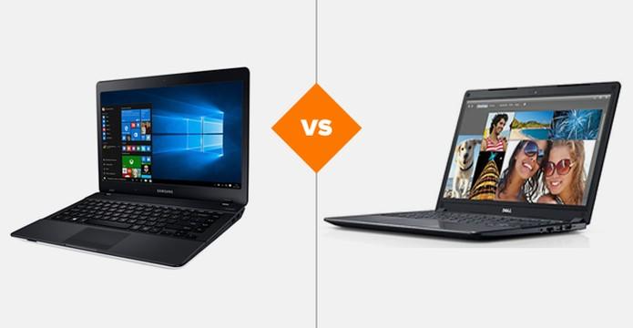 """Samsung Essentials E32 ou Dell Vostro 5480: qual notebook de 14"""" comprar? (Foto: Arte/TechTudo)"""