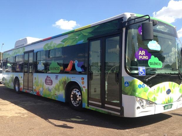 Ônibus elétrico da empresa BYD que começa a ser testado nesta quinta-feira (3) (Foto: TCB/Divulgação)