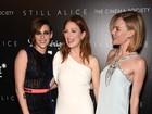 Kristen Stewart usa look transparente e deixa sutiã à mostra em première