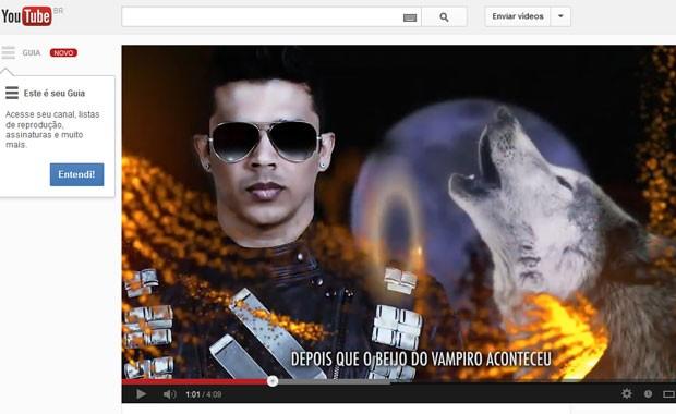 Cena do clipe de 'Amanhecer', da banda Calcinha Preta (Foto: Reprodução / YouTube)