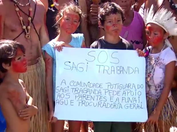 Empresa invade terras onde índios potiguara plantam para comer (Foto: Clayton Carvalho/Inter TV Cabugi)