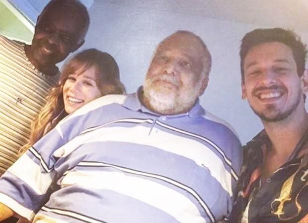 Gilberto Gil, Mariana Ximenes, Jorge Bastos Moreno e João Vicente de Castro (Foto: Reprodução/Instagram)