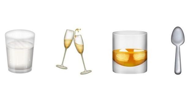 Bebidas também estão no cardápio dos novos emojis (Foto: Divulgação/Emojipedia)
