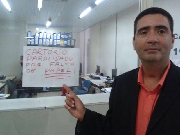 Falta de papel no fórum de Campina Grande (Foto: José Ivonaldo/Acervo Pessoal)