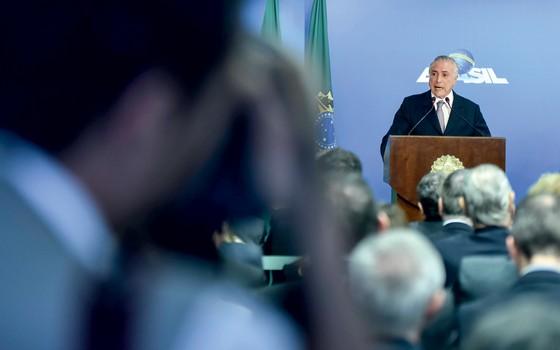 O presidente interino Michel Temer (Foto: RICARDO BOTELHO/BRAZIL PHOTO PRESS)