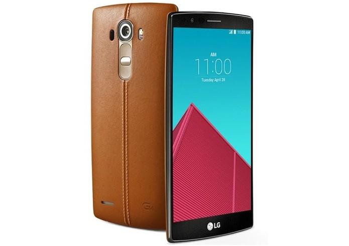 LG G4 tem botões traseiros, capa de couro e função Quick Selfies para fotos mais naturais e poderosas (Foto: Divulgação/LG)