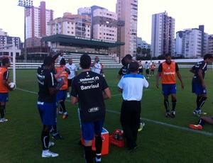 Grêmio treinou no CT do Goiás, em Goiânia (Foto: Vitor Rodriguez/Grêmio FBPA)