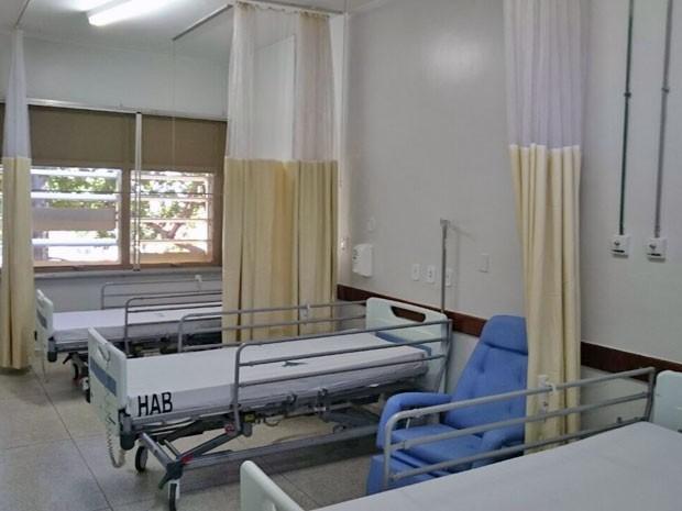 Leitos da ala de cuidados paliativos do Hospital de Apoio de Brasília (Foto: Mateus Rodrigues/G1)