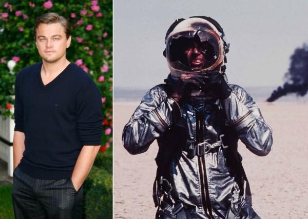 O ator Leonardo DiCaprio e uma cena da versão original para o cinema de The Right Stuff (Foto: Getty Images/Reprodução)