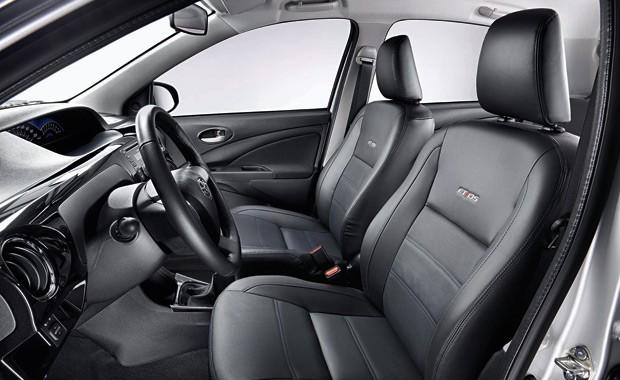 Interior Toyota Etios  (Foto: Divulgação)