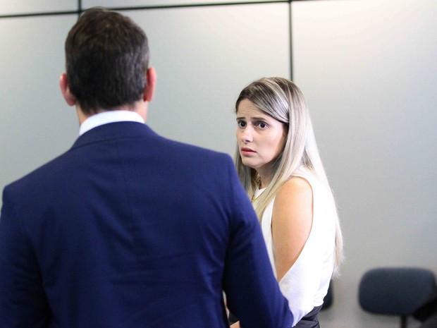 Mysheva Martins, namorada do promotor de Itaíba, assassinado em 2013 (Foto: Marlon Costa/Pernambuco Press)