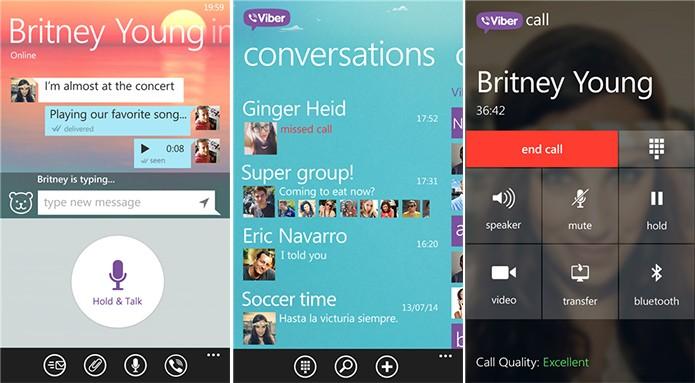 Viber ganhou função de envio de voz walkie-talkie e mudanças visuais (Foto: Divulgação/Windows Phone Store)