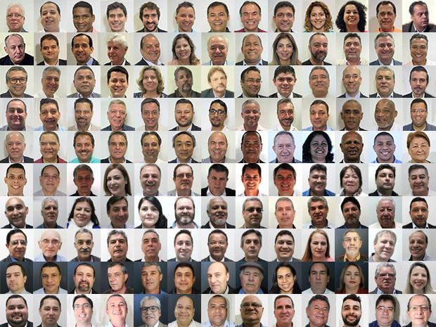 Candidatos à prefeitura de cidades da Baixada Santista e do Vale do Ribeira (Foto: Arte/G1)