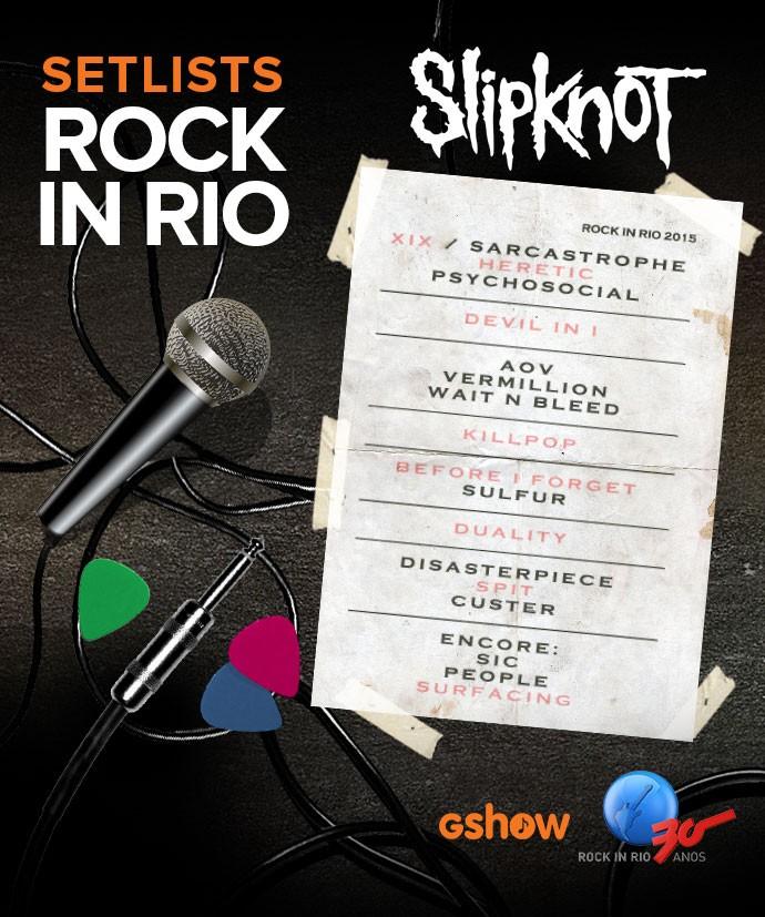 Setlist Slipknot (Foto: Arte: Fernando Ribas/Gshow)