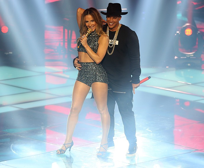 Claudia Leitte e Daddy Yankee lacraram com 'Corazón' no The Voice Brasil (Foto: Isabella Pinheiro / Gshow)