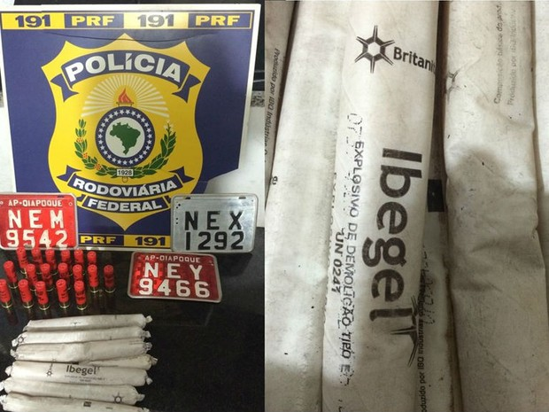 Material foi levado para o Ciosp da cidade de Oiapoque, onde o fato ocorreu (Foto: Ascom/PRF)