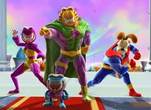 Garfield e seus amigos entram na batalha contra a terrível vilã (Foto: Divulgação / Reprodução)