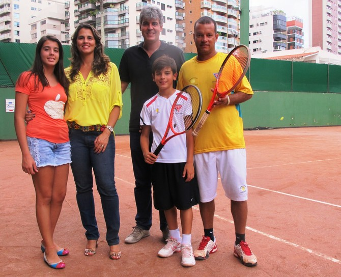 Lucas Andrade tenista Santos (Foto: Lincoln Chaves)