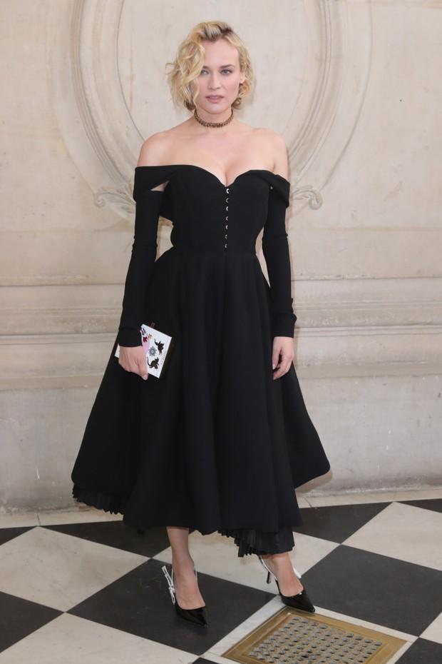 Diane Kruger no desfile de alta-costura da Dior, em Paris (Foto: Getty Images)