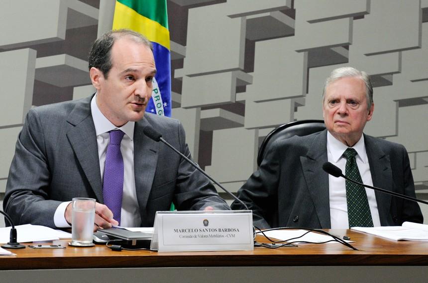 Novo presidente da CVM, Marcelo Santos Barbosa  (Foto: Agência Senado)