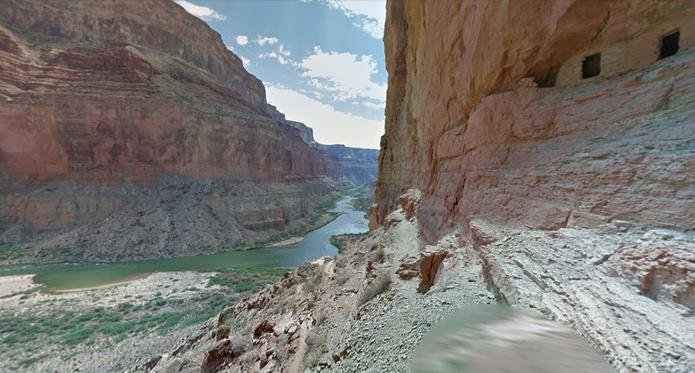 Rio Colorado no Street View do Google Maps (Foto: Reprodução/Paulo Finotti)