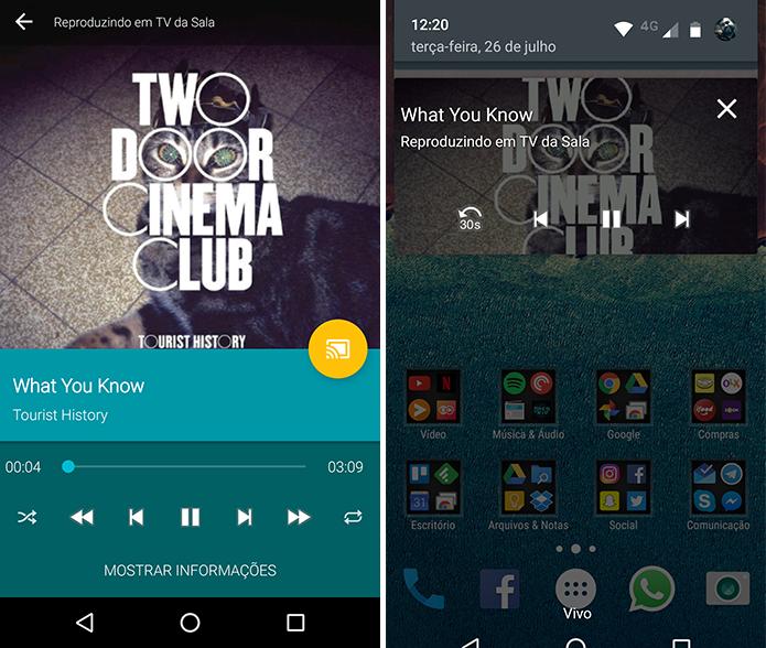 Toque suas músicas na TV com Chromecast (Foto: Reprodução/Paulo Alves)