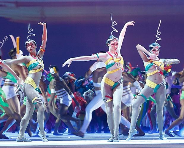Bailarinas relembra abertura de Fantástico (Foto: Raphael Dias / Gshow)