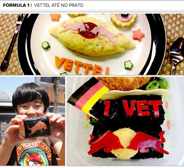 Mosaico Kotta criança comidas (Foto: Editoria de Arte)
