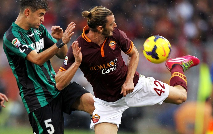 AS Roma x US Sassuolo Calcio Luca Antei Federico Balzaretti (Foto: Getty Images)
