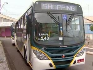 Tarifa passou de R$ 2,40 para R$ 2,70 nesta segunda-feira (1) em Santa Bárbara d'Oeste (Foto: Reprodução/EPTV)