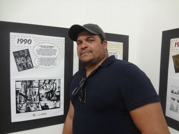 O artista Joe Bennett desenha para Marvel e DC (Foto: Ingo Müller / G1)
