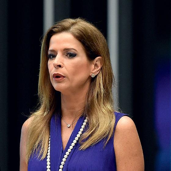 Claudia Cruz, esposa do ex presidente da Câmara, Eduardo Cunha (Foto: EVARISTO SA/AFP)