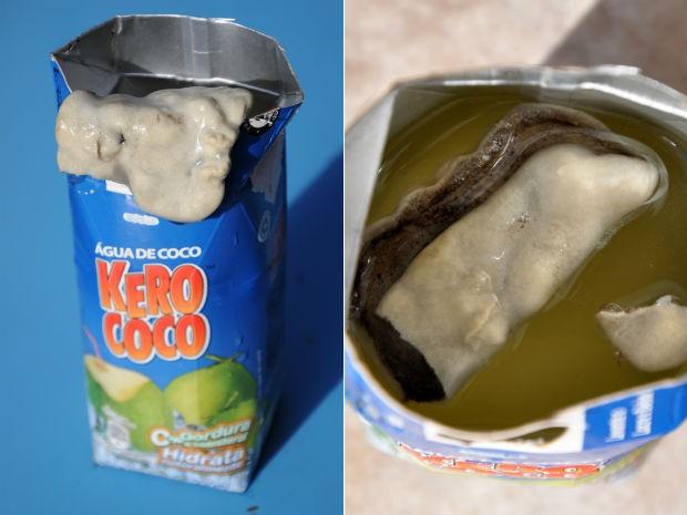 Internauta contou que percebeu o sabor alterado ao ingerir o produto (Foto: Arquivo pessoal)