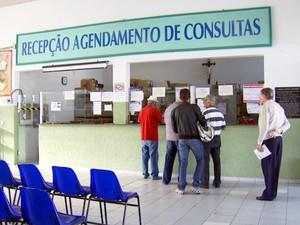 Setor de agendamento de consulta em posto de saúde na região de Campinas (Foto: Reprodução / EPTV)