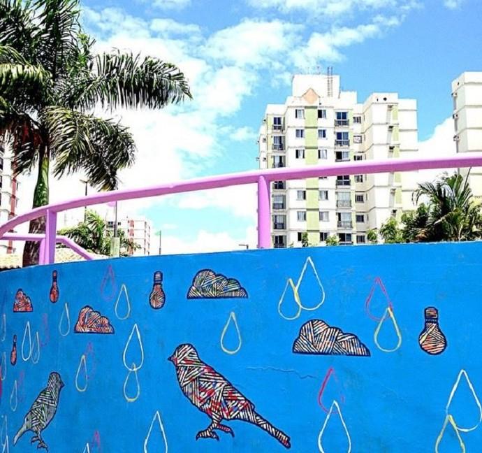 Obras do artista Fábio Sampaio (Foto: Arquivo pessoal)