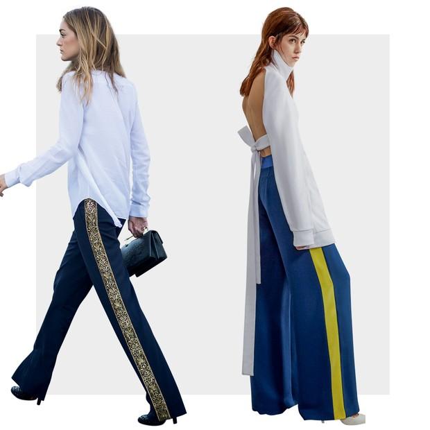 Pantalona ganha listra lateral e ares esportivos - Vogue  c61cbb1202530