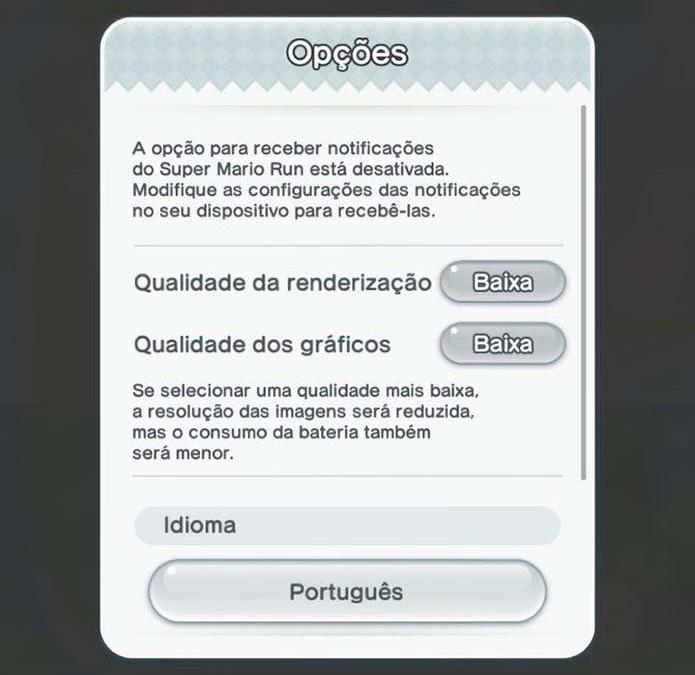 Diminua a qualidade gráfica de Mario Run (Foto: Reprodução/Murilo Molina) (Foto: Diminua a qualidade gráfica de Mario Run (Foto: Reprodução/Murilo Molina))