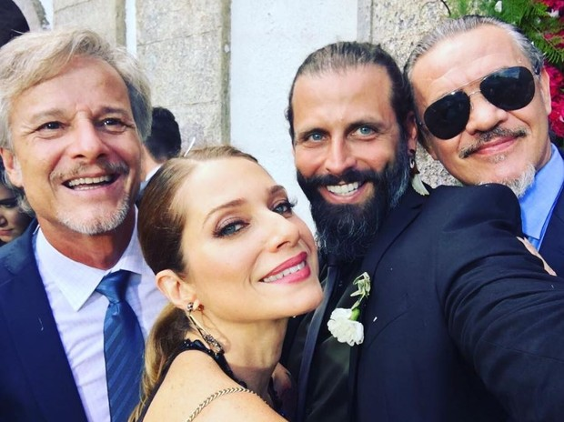 Marcello Novaes, Leticia Spiller, Henri Castelli e Jean Pierre Noher (Foto: Reprodução/Instagram)