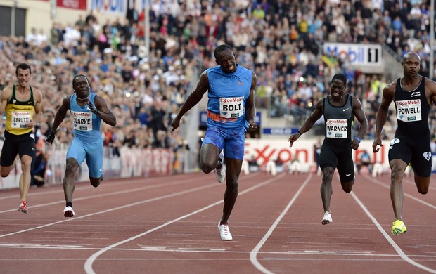 Usain Bolt supera Asafa Powell e vence 100m rasos em Oslo pela Diamond League (Foto: Reuters)
