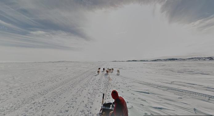 Ártico Canadense registrado no Street View do Google Maps (Foto: Reprodução/Paulo Finotti)