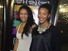 Sheron Menezzes leva a irmã a pré-estreia de filme no Rio