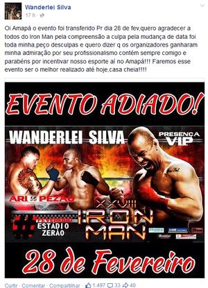 Wanderlei Silva no Iron Man no Amapá (Foto: Reprodução/Facebook)