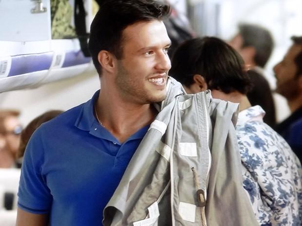 O que será que César achará desse retorno? (Foto: TV Globo)