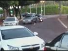 Carro fica destruído após dia de fúria; motorista diz que quis se defender