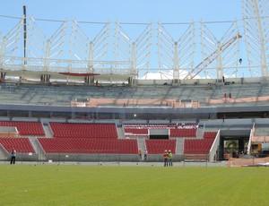 Obras reforma Estádio Beira-Rio (Foto: Márcio Luiz/Globoesporte.com)