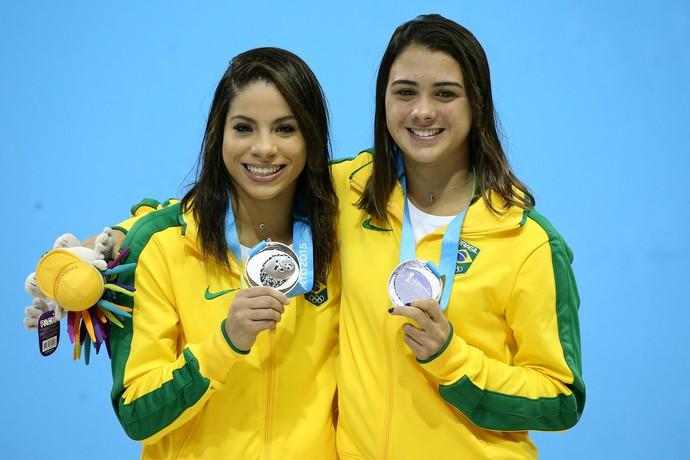 Ingrid Oliveira e Giovanna Pedroso: prata nos saltos ornamentais no Pan (Foto: Satiro Sodré/SSPress)