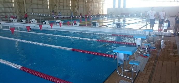 Piscinas do Centro de Treinamento Esportivo da UFMG, onde a natação do Reino Unido treina (Foto: Rafael Araújo)
