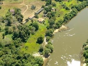 Fazenda fica na Lagoa da Confusão (Foto: Reprodução/TV Anhanguera)