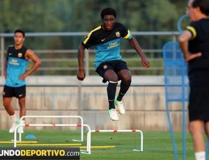 Jean-Marie Dongou novo Eto'o Barcelona (Foto: Reprodução / Mundo Deportivo)